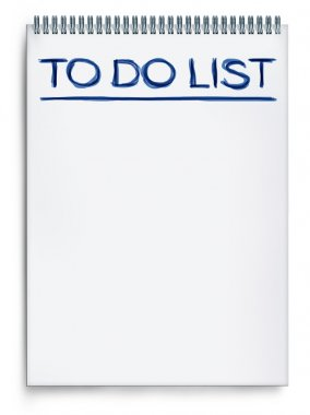 To do list on a notepad