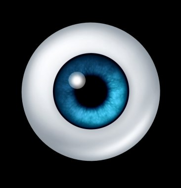 Human blue Eye ball