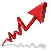 üzleti siker grafikon