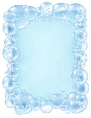 Bubbles frame bath fresh