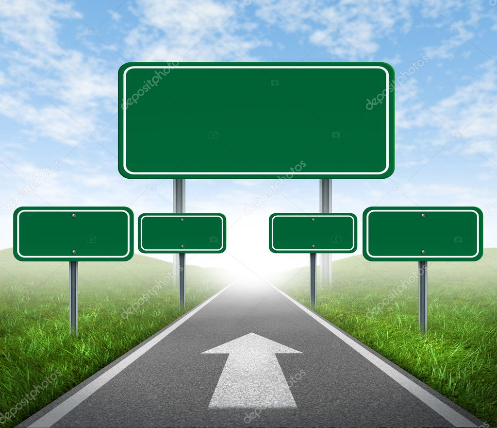 Strategy road signs