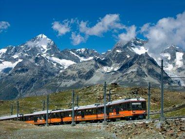 Gornergrat train in Switzerland Alps