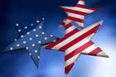 Photo Stars as American flag