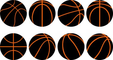 Basketball ball-8 different views
