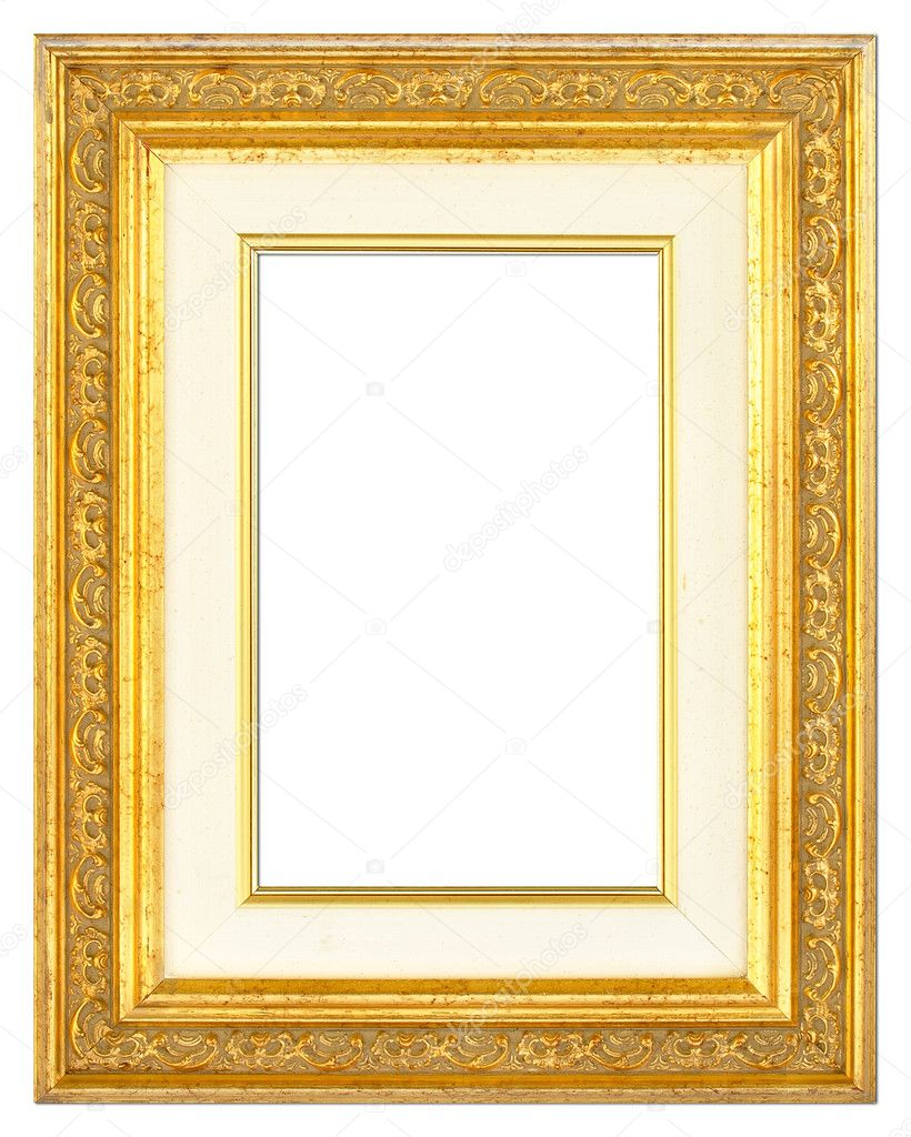 Holz vergoldet Bilderrahmen mit Passepartout — Stockfoto © MrJPEG ...