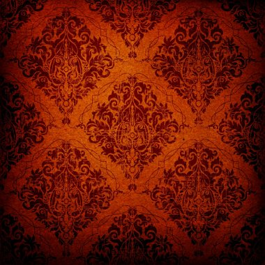 Seamless vintage backgrounds brown baroque Pattern.