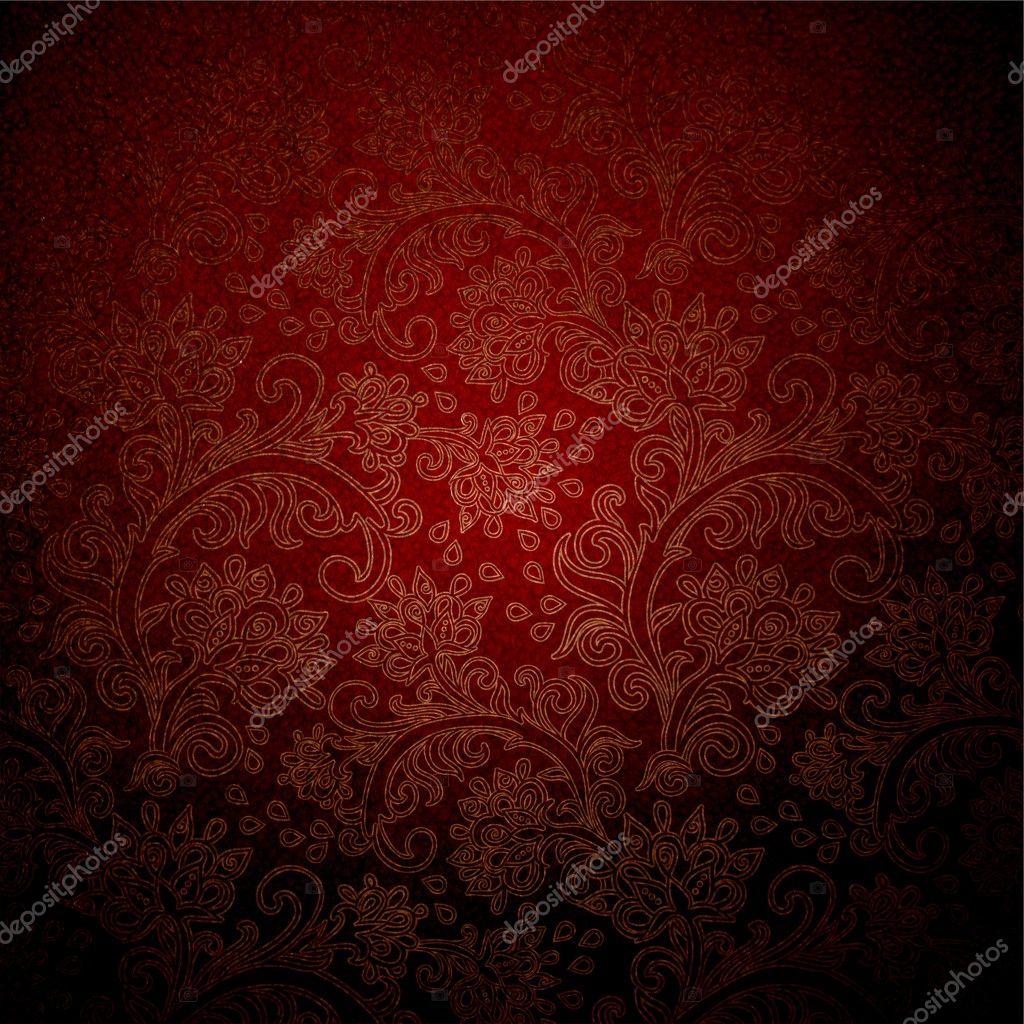 donker rood patroon behang stockfoto aver 7789652. Black Bedroom Furniture Sets. Home Design Ideas