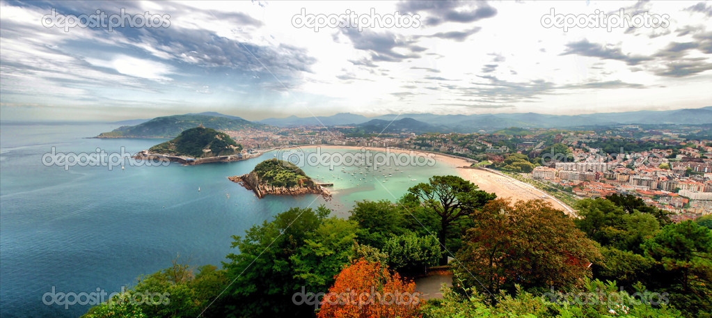 San Sebastian. Vista desde el Monte Igeldo (Panoramic view from Igeldo)