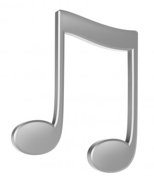 Silver note isolated on white