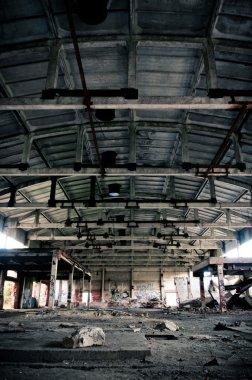 Abandoned plant symmetric interior