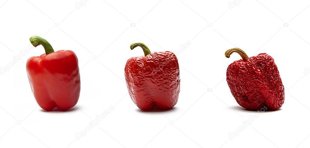 Rote Paprika im Alterungsprozess