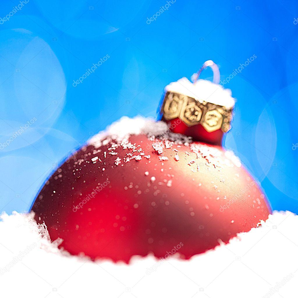 Weihnachten Schnee Eis Bokeh Winter Kugel weihnachtsbaum — Stockfoto ...
