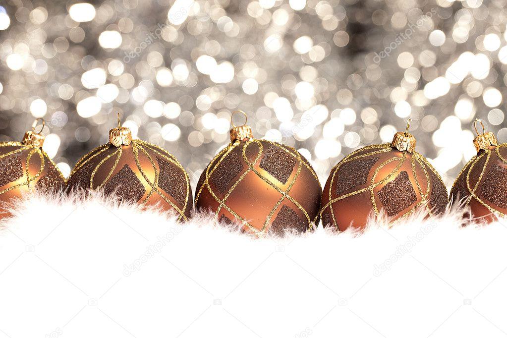 weihnachten schnee eis gold braun winter kugel. Black Bedroom Furniture Sets. Home Design Ideas