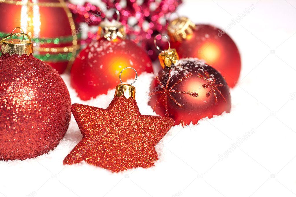 weihnachten schnee eis strenge winter kugel weihnachtsbaum. Black Bedroom Furniture Sets. Home Design Ideas