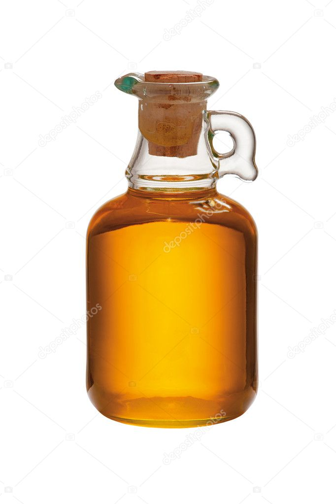 Vegetable oil isolated on white background