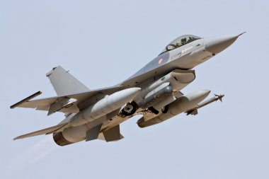 MONTE REAL, PORTUGAL-APRIL 7: F16 Portuguese taking off. Participating in R