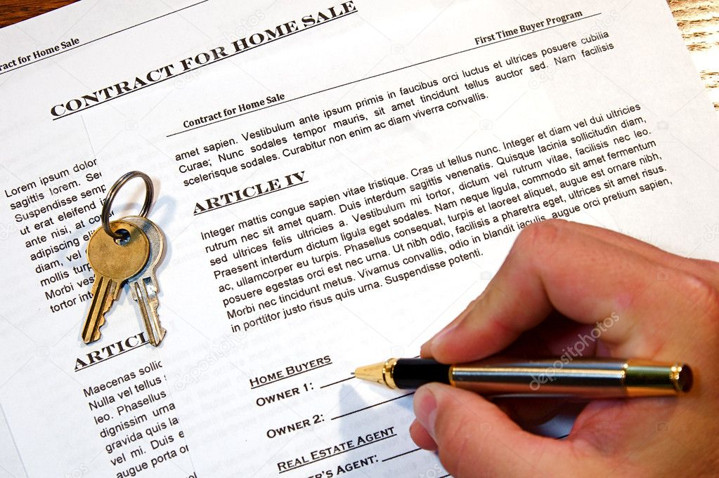 Contract Of Home Sale  Stock Photo  Cmcderm