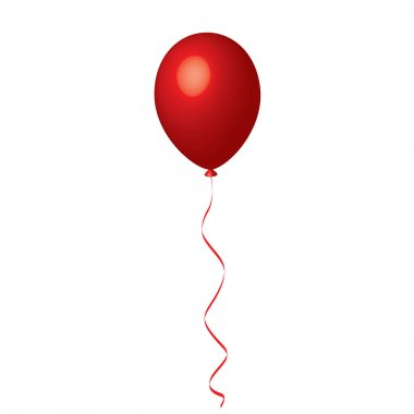 Vector illustration of red balloon stock vector