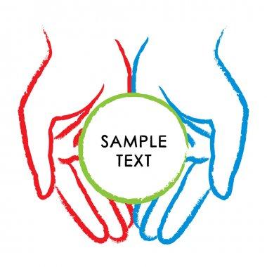 Vector illustration of hands stock vector