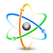 Photo Colorful Atom