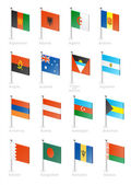 Fotografie Flag icon set (part 1)