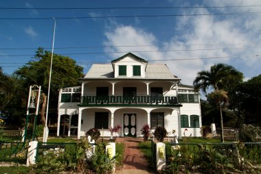 Colonial mansion in NIeuw-Amsterdam - Surinam
