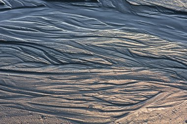 Water Patterns On Sand