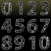 Fényképek Vektor Crystal számok