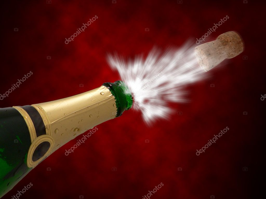 Celebration with drink champagne bubles, New year