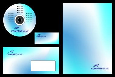 Vector easy editable - corporate identity template, business sta