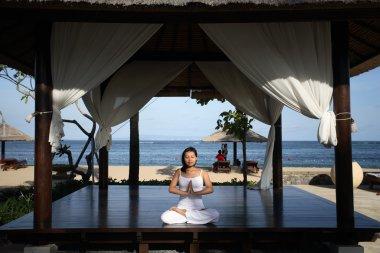 Yoga in a Gazebo