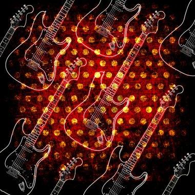 Glowin electric guitar