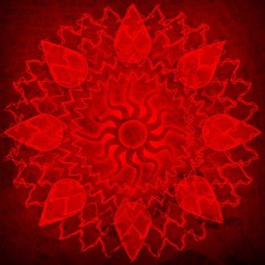 Red spirutal sun background