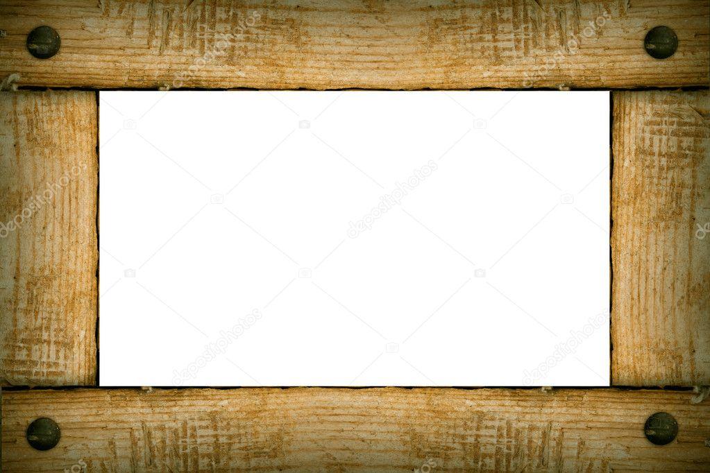 marco de madera de fondo antiguo — Foto de stock © denisovd #7456006
