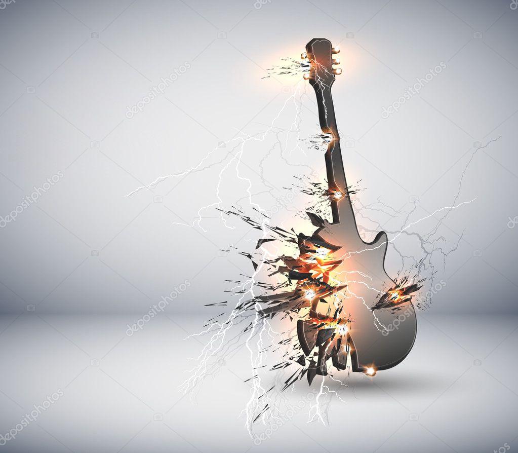 Music Guitar explisive background