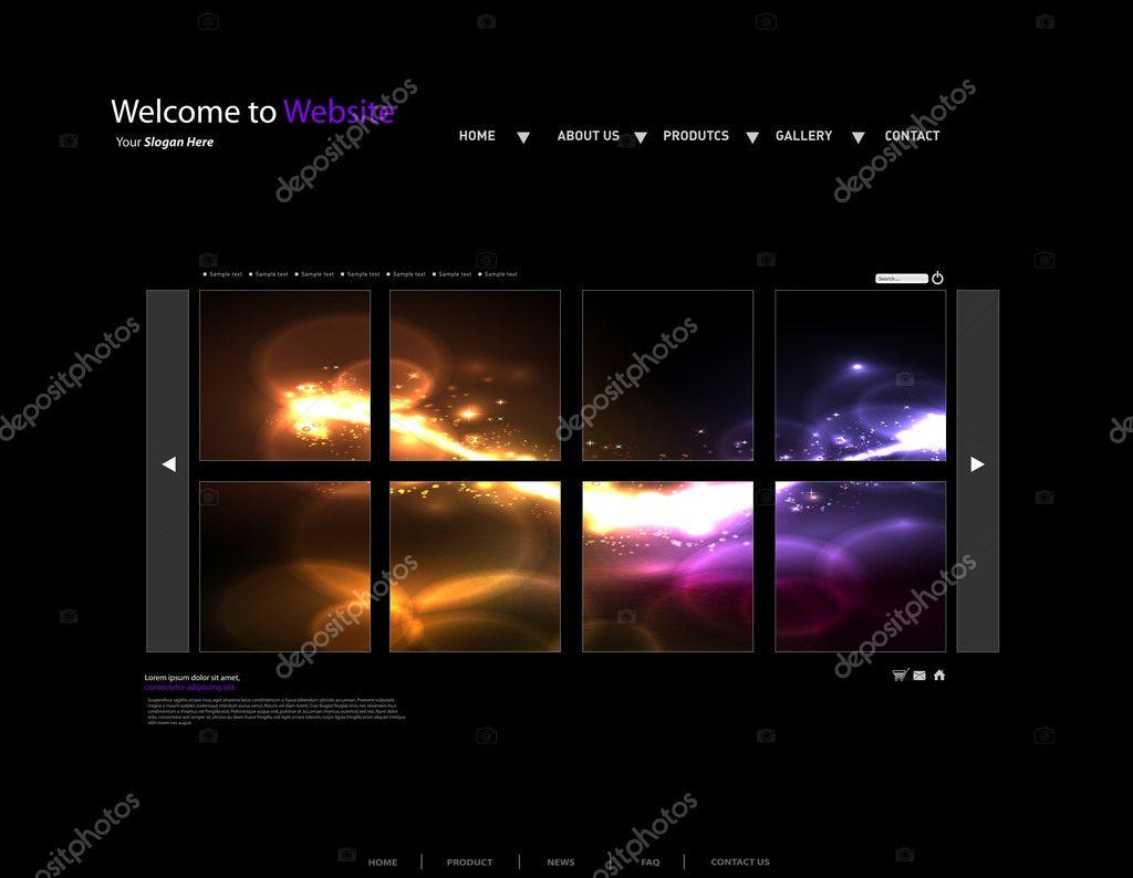 plantilla Vector sitio Web Galería — Archivo Imágenes Vectoriales ...