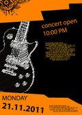Fotografia poster musica con chitarra