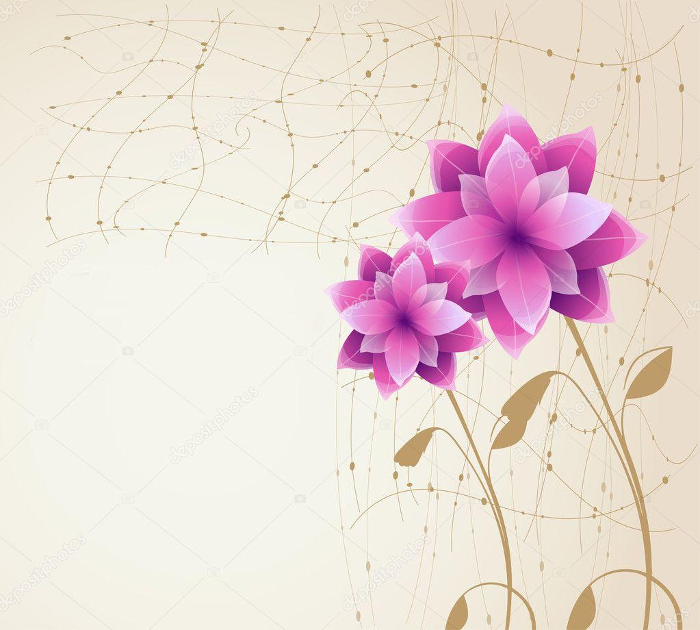 Fond Fleur Romantique Image Vectorielle Vectorguru C 7716874