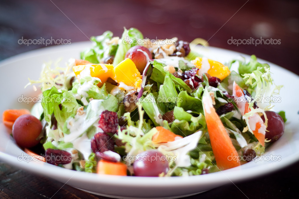 Kızılcık Waldorf Salatası Stok Foto Rohitseth 7613063