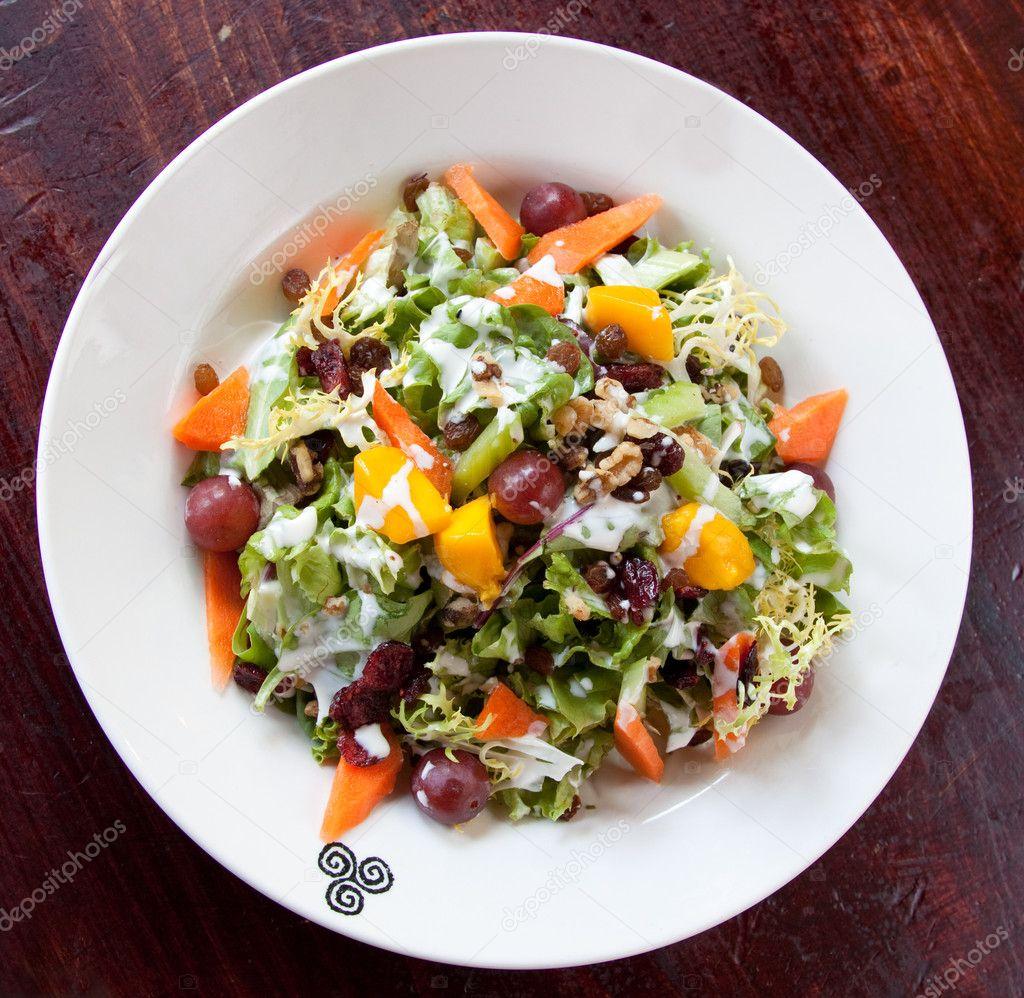 Kızılcık Waldorf Salatası Stok Foto Rohitseth 7613084