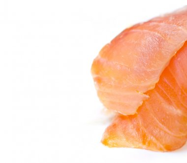 Slices of a salmon