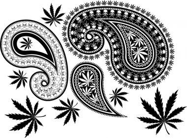 Paisley cannabis and skull
