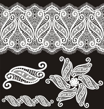 Embroidered guipure lace design