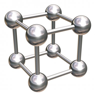 Crystal lattice with eight atoms