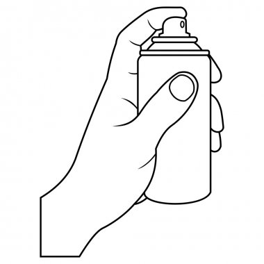 Hand with spray