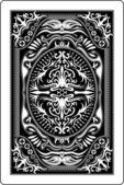 Fotografie Rückseite Spielkarte 60 x 90 mm