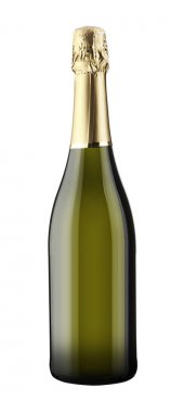 Sparkling White Wine Bottle, Champagne bottle isolated on a white backgroun