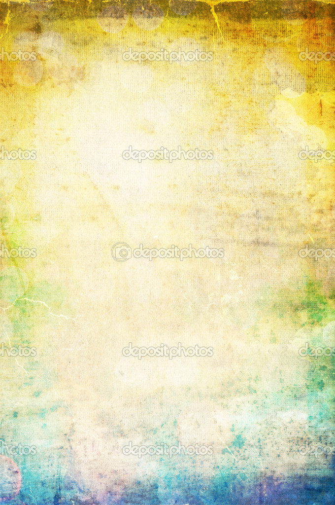 Beautiful water color on old paper texture background