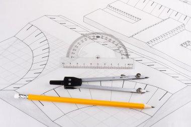 Building plan of a civil construction