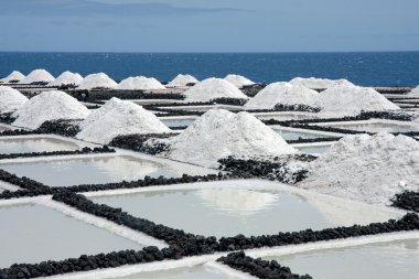 Salt extraction at La Palma, Canary Islands